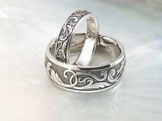 handmade Victorian scroll wedding rings | platinum wedding b… | Flickr