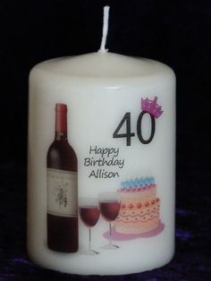Birthday Candle with age on