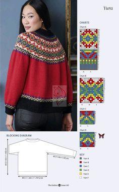 Fair Isle Knitting Patterns, Knit Patterns, Pull Torsadé, Knitted Dolls, Yarn Crafts, Shibori, Hand Knitting, Fair Isles, Knitwear