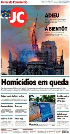 El diario brasileño 'Jornal do Commercio' también despide a la catedral de París en su portada Magazine, Recherche Google, Movies, Movie Posters, First Trimester, Finals, Journaling, Cover Pages, Daily Journal
