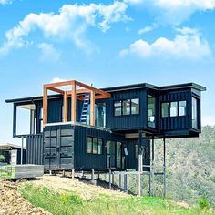 35 Best Shipping Container House Ideas- 2020 - Page 15 of 35 - coloredbikinis. Cargo Container Homes, Building A Container Home, Storage Container Homes, Container House Design, Shipping Container Homes, Shipping Containers, Container Architecture, Architecture Design, Container Buildings