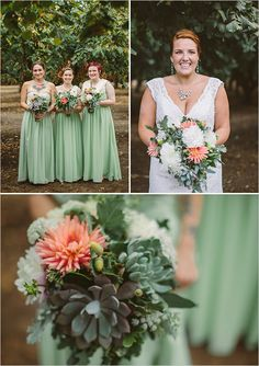 green bridesmaid dresses @weddingchicks