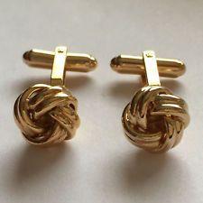 Gold plated Knots shape cufflinks Lot 28A