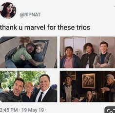 Which trios is your favourite? - - - - - - - - - - - - ffh farfromhome tomholland spiderman spidermanfarfromhome spidermanhomecoming homecoming th mcu marvel avengers avengersendgame dontspoiltheendgame zendaya tomdaya disney meme memeholland quakson Avengers Humor, Marvel Jokes, Marvel Avengers, Films Marvel, Funny Marvel Memes, Dc Memes, Marvel Dc Comics, Marvel Heroes, Quicksilver Avengers