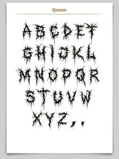 It's gory, it's extreme, it's special – it is the Gory Bastard. Tattoo Lettering Styles, Graffiti Lettering Fonts, Creative Lettering, Tattoo Fonts, Typography, Blitz Tattoo, Lettrage Chicano, Tattoos Realistic, Metal Font