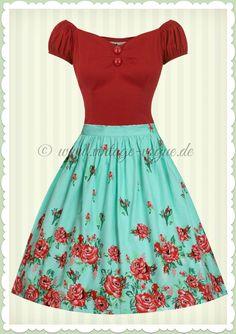 Tellerrock ohne Petticoat Gr 36//38 mit Blumenmuster Trend 2015