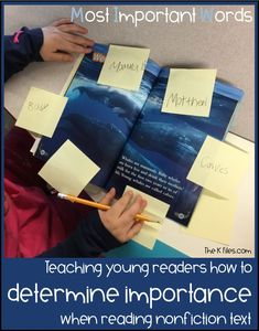 Ocean Life: Nonfiction Reading and Writing Unit (Determine Importance) - The K Files Close Reading Strategies, Teaching Strategies, Teaching Ideas, Thinking Strategies, Teaching Reading, Guided Reading, Teaching Spanish, Learning, Readers Workshop