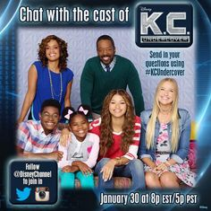 """""""K.C. Undercover"""" Cast Live Chat With Disney Channel January 30, 2015 - Dis411"""