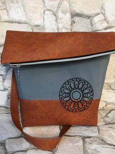 """Schultertaschen - Tasche Foldover 2.0 """"Mandala"""" Kunstleder/Canvas - ein Designerstück von Kleine-Wollbude bei DaWanda"""
