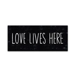 """You'll love the """"Love Lives Here"""" by Michael Mullan Textual Art on Wrapped Canvas at Wayfair - Great Deals on all Décor  products with Free Shipping on most stuff, even the big stuff."""