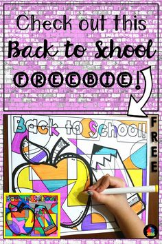 This FREE Back to School coloring page is perfect for the first day of school! Showcase for Open House or Meet the Teacher.