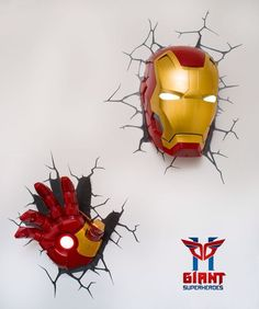 #iron_man #Marvel #lamp #wall_lamp #home_decoration