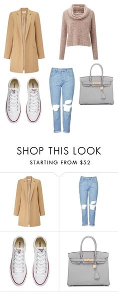 """Untitled #40"" by withlovekarina on Polyvore featuring Miss Selfridge, Topshop, Converse and Hermès"