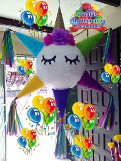 60th Birthday Party Decorations, Birthday Pinata, Unicorn Themed Birthday Party, Fiesta Party Decorations, Mario Birthday Party, Unicorn Pinata, Unicorn Party, Art For Kids, Crafts For Kids