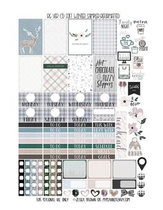 Reformatted Free Printable Vertical Carpe Diem Soft Winter Sampler from myplannerenvy.com