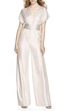 New Dessy Collection Twist Convertible Wide Leg Jumpsuit online shopping - Ideasyoulove Gold Jumpsuit, Bridal Jumpsuit, Jumpsuit Dress, Urban Outfits, Fashion Outfits, Metallic Jumpsuits, Bridesmaid Outfit, Bridesmaids, Chiffon Evening Dresses