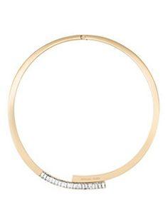 Michael Kors - Black Tie Affair Crystal Bypass Collar Necklace