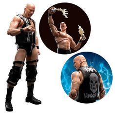 WWE Wrestling shfiguarts Japon Triple HHH THE ROCK Stone Cold Steve Austin NEUF