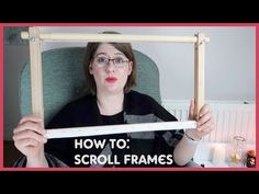 HOW TO: Attach Embroidery to a Scroll Frame - YouTube