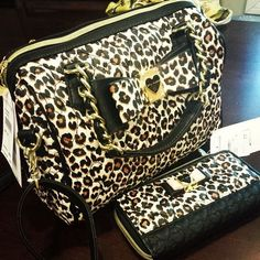 Betsey johnson purse and wallet