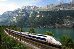 TGV Lyria traveling between France and Switzerland