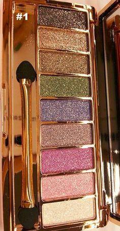 """Golden Eye"" Glitter Eyeshadow Palette Set"