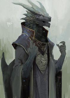 Draconato mago feiticeiro