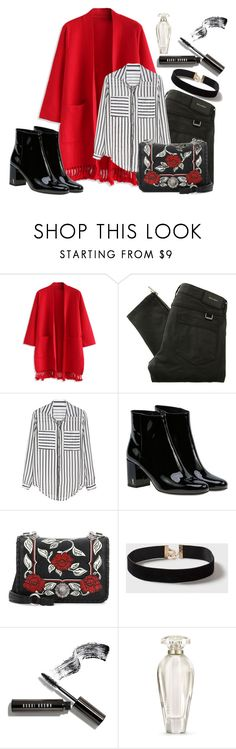 """""""Today is the day!"""" by lululafitte ❤ liked on Polyvore featuring Chicwish, Belstaff, Yves Saint Laurent, Miu Miu, Dorothy Perkins, Bobbi Brown Cosmetics and Victoria's Secret"""