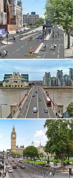 London Mayor Boris Johnson has committed to building a wide, continuous protected bike lane linking east and west London beginning in spring 2015. Click image for full story and visit the slowottawa.ca boards >> https://www.pinterest.com/slowottawa/