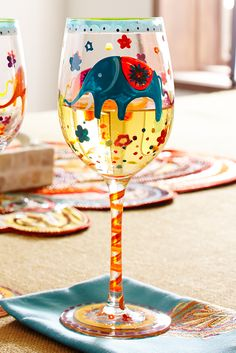Pier 1 has just the glass for toasting great memories with Mom. Our handblown wine glass features a hand-painted elephant frolicking among flowers. If you're looking for a fun gift for her, this is just the thing—an unforgettable present for an unforgettable mother.