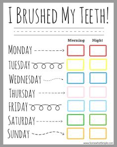 Kids Health Children's Dental Health Month (February) - Printable Teeth Brushing Chart for passive program - Our teeth brushing incentive chart is the perfect way to BRUSH UP on good dental hygiene! Grab a copy for free and get started today! Dental Health Month, Oral Health, Kids Health, Children Health, Health Tips, Health Chart, Health Fair, Health Lessons, Kids And Parenting