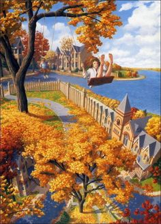 Surrealistic paintings by Rob Gonsalves