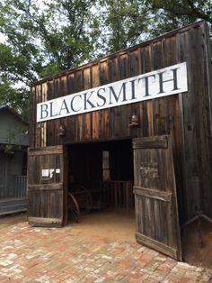 Old Blacksmith shop in Buffalo Gap Texas.