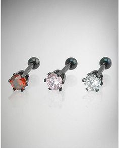 14 Gauge Tragus Anodized Studs - Spencer's