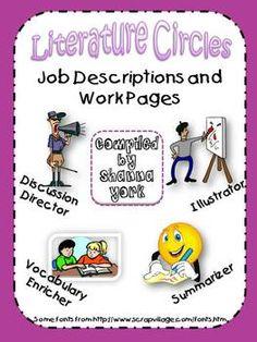 Literature Circle Jobs and Descriptions - Freebie!