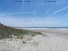 Playa Grande no Parque Nacional de Santa Teresa, Rocha, Uruguai.  Foto : Cida Werneck