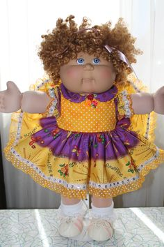 SOLD Cabbage Patch Kids, Bake Sale, Doll Clothes, My Design, Nostalgia, Dolls, Cute, Antique Dolls, Baby Dolls