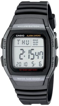 Casio Men's W96H-1BV Classic Sport Digital Black Watch ** For more information, visit image link.