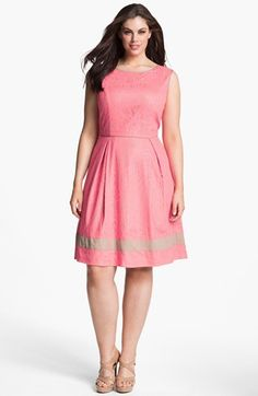 Jessica Simpson Lace Fit & Flare Dress (Plus) available at #Nordstrom