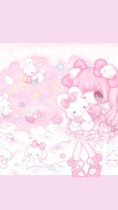 Pin by ana maria on wallpapers in 2019 стиль Cute Kawaii Animals, Cute Animal Drawings Kawaii, Kawaii Drawings, Cute Drawings, Cute Anime Chibi, Kawaii Chibi, Kawaii Anime Girl, Anime Art Girl, Cute Pastel Wallpaper