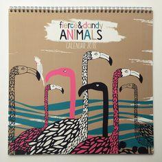Fierce & Dandy Animals Wall Calendar 2018/Illustrated/Penguins/Love Birds/Polar Bears/Flamingos etc/30x30cm by FierceandDandy on Etsy