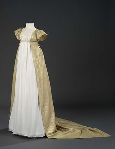 Formal Egyptian-Silk Overdress, English, c. 1801. (View 1)