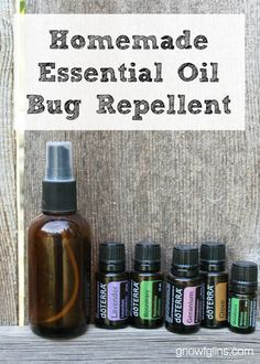 Homemade Essential Oil Bug Repellent | Summer is in full swing! The extra hours of sunlight make social gatherings that much more fun, but u...