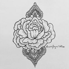 Simple rose sternum design for Natasa (all designs are subject to copyright…