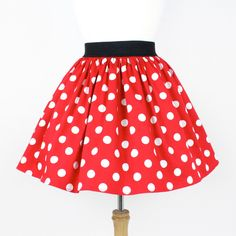 Red and White Polkadots Pleated Skirt ($40) ❤ liked on Polyvore featuring skirts, pinup skirt, dot skirt, stretch pencil skirt, knee length pleated skirt e stretch skirt