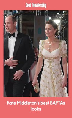 Take a look back at Kate Middleton's best BAFTAs gowns, from her stunning 2020 gown to other favourites over the years. Muslim Wedding Gown, Wedding Gowns, Duke And Duchess, Duchess Of Cambridge, Film Awards, Royal Style, Red Carpet Looks, Royal Fashion, Looking Stunning