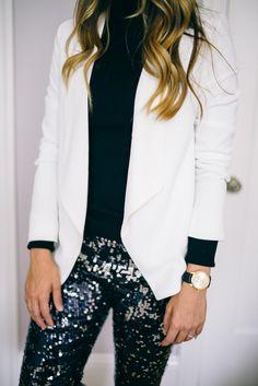 sequins + blazer