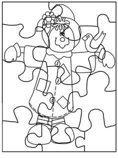 Exercices à imprimer pour les enfants. Couper Puzzles 8