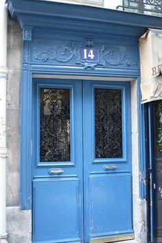 Blue door - Paris.  ASPEN CREEK TRAVEL - karen@aspencreektravel.com