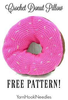 Want a fun, quirky pattern to give as a gift? Check out this giant crochet donut pillow pattern for free! You'll love the laughs coming from this project!